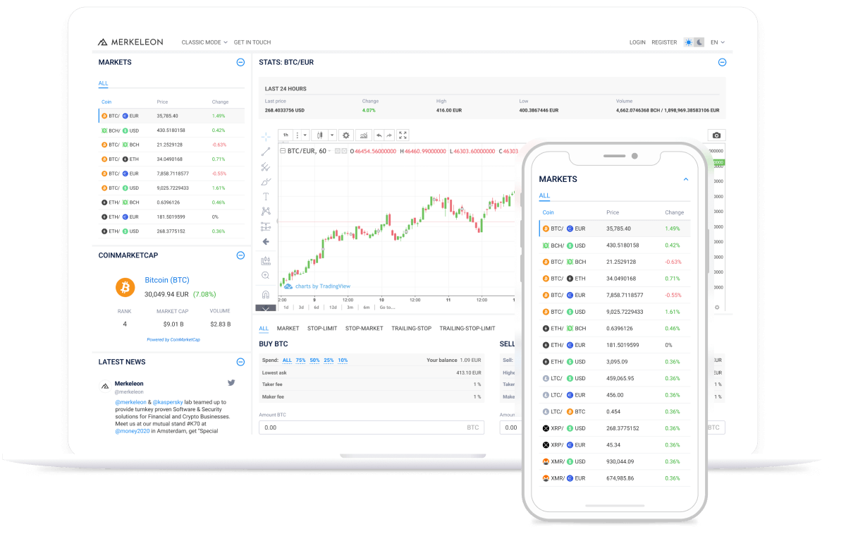 Cryptocurrency Exchange Software - Image 1